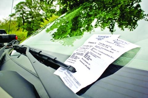 samford parking tickets