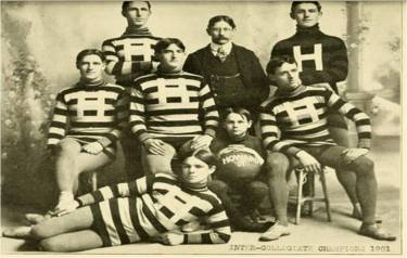 Howard College's basketball team in 1901, a year after the first game on campus. Note that they're now Inter-Collegiate Champions!