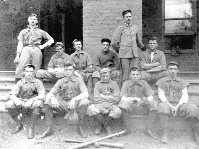 Samford's first baseball team, formed in 1878, poses for the camera.