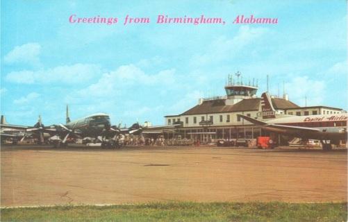 Birmingham Airport postcard