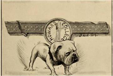 A 1920 Entre Nous boasts this cartoon of a bulldog for a title paper.
