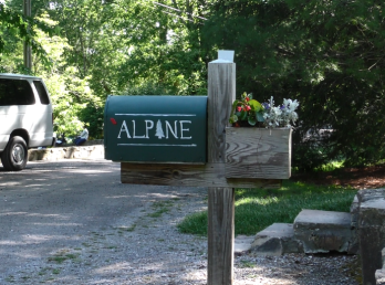 The Camp Alpine mailbox serves as a community landmark and gathering spot for the early morning bird walks.